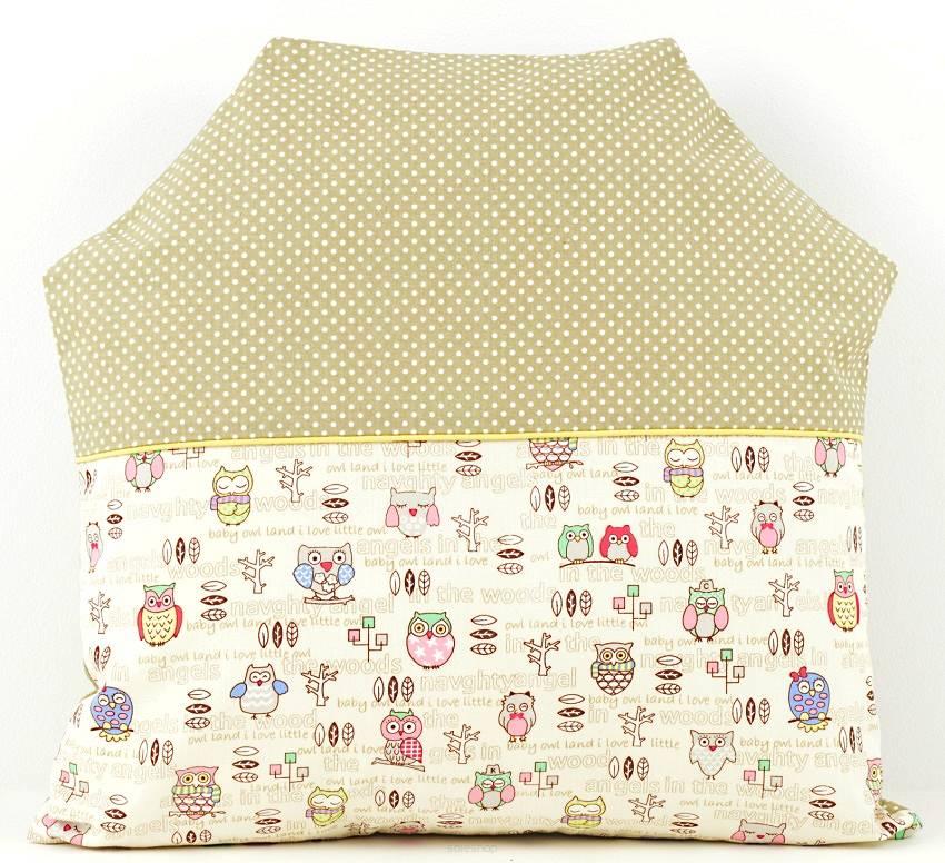 Poduszka Dla Dziecka 40x40cm Domek Sowy Handmade